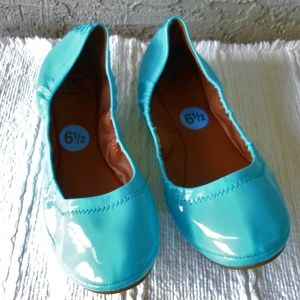 Turquoise Patent 'Emmie' Ballet Flat NWOT